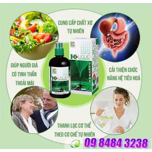 Nước Diệp Lục K Liquid Chlorophyll K-Link bổ sung chất xơ & một số vitamin, trị chứng táo bón