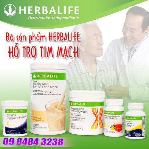 Bộ 5 sản phẩm hỗ trợ bệnh tim mạch Herbalife
